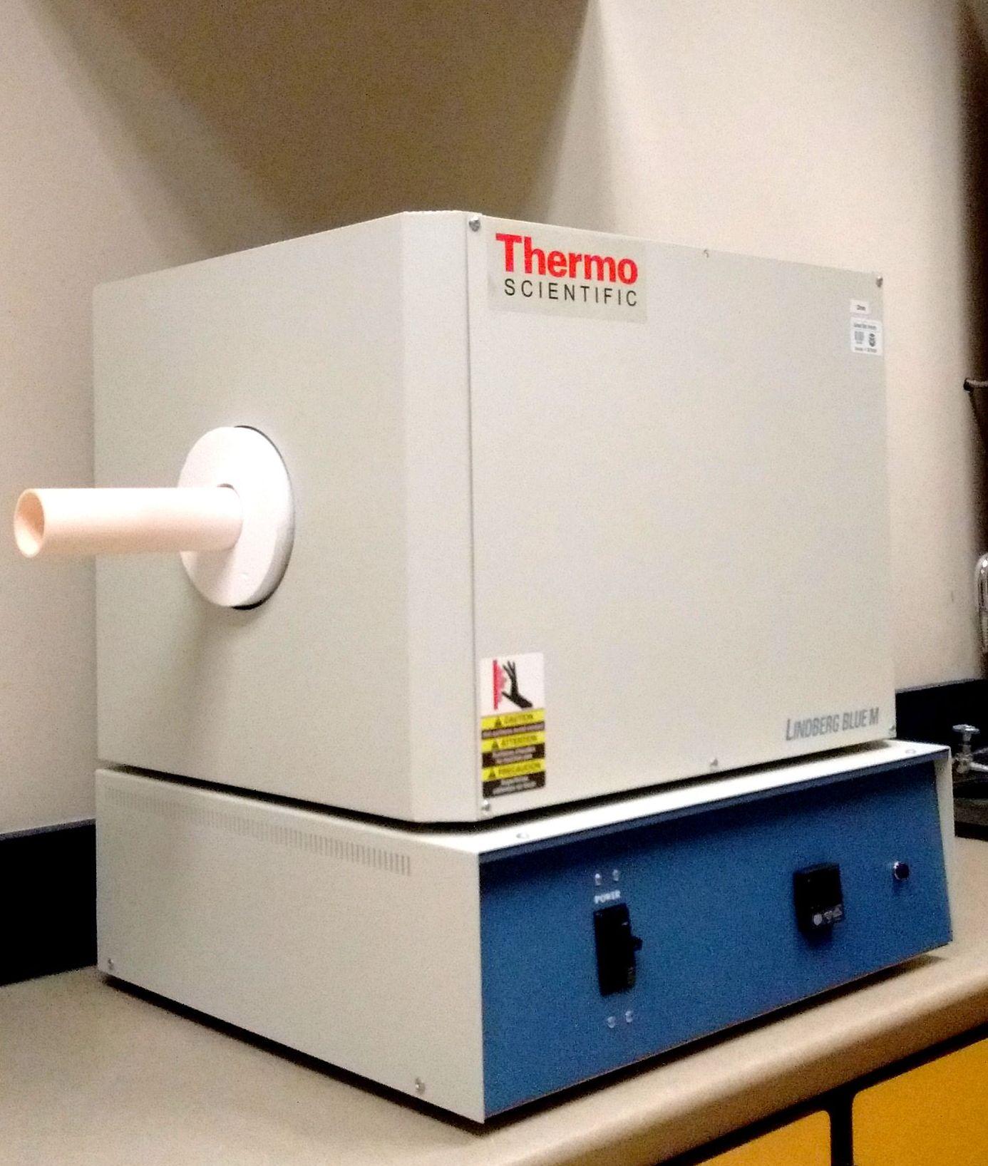 Tube furnace: max T = 1500 C